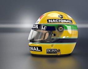 1988 Ayrton Senna Championschip Race Helmet 3D model
