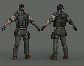 Soldiers terrorists killers special forces 3D model