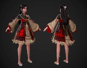 3D asset Ancient Chinese Little Girls Loli pretty