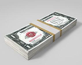 3D model Wad of dollar bills wad