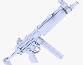 MP5 Submachine Gun 2 3D asset
