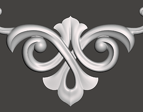 WoodCarving detail - 3d model for CNC - WCCFC0T