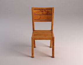 3D model CHAIR---Rustic wood