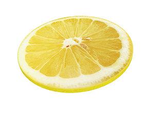 Lemon round slice 3D
