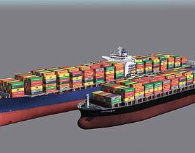 Two Cargo Ships 3D model