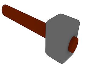illustration 3D model game-ready Hammer