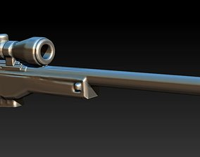 3D printable model sniper rifle army