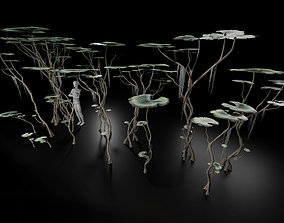 Alien Swamp Plant Type1 3D asset