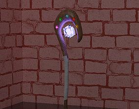 Magical staff 3D asset