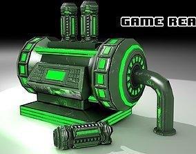 PBR Fuel Cell Generator Game Assets 3D model