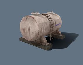 Fuel Tank 3D model rigged