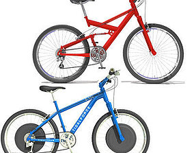 3D model 2 Bicycles