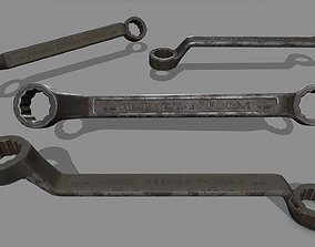 3D asset realtime steel Wrench