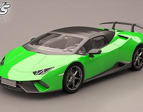 3D model Lamborghini Huracan cars