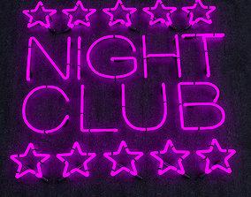 Night Club Neon Sign 3D asset