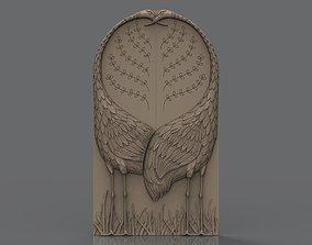 3D print model Two cranes armoire