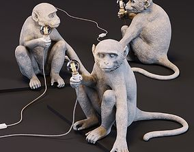 The Monkey Lamp Sitting Version 3D asset
