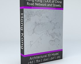 Hong Kong Road Network and Streets 3D model