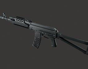 AKMS AK-47 Assault Rifle gun weapon Russian 3D model