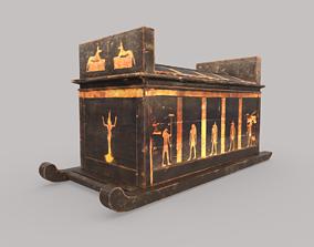 Egyptian Wooden Sarcophagus 3D asset