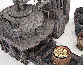 Furnace Electric Arc Furnace 3D