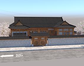 3D Korean Hanok Traditional House asian