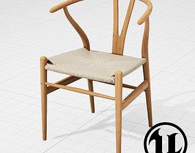 3D model Hans Wegner Wishbone Chair UE4