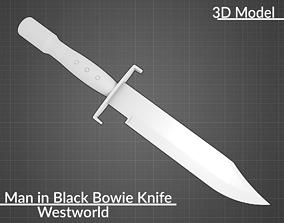Westworld Man in Black like Bowie Knife 3D print model 1