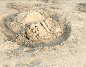 Beach Sand Volcano Mound RAW SCAN 3D
