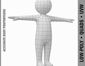 3D model Toddler Stickman Character