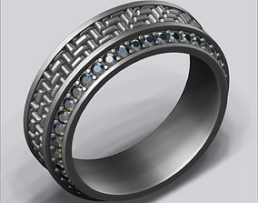 3D print model Textured ring 01 - 3 Sizes -