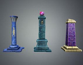 3D model Fantasy Pillar Collection