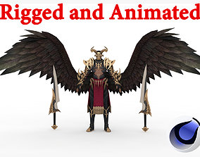 Demon Man Rigged and Animated 3D asset