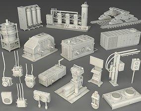 Factory Units 3 - 20 pieces 3D