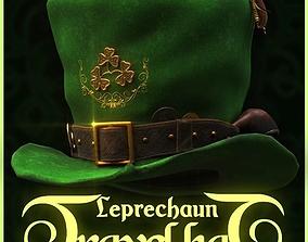 Leprechaun Travel Hat 3D asset game-ready