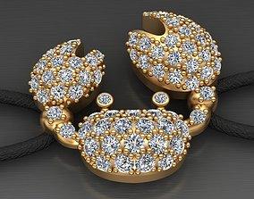 Crab Gold Diamond Bracelet Printable