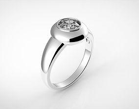 3D printable model Engagement circle ring