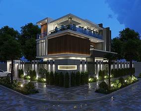 residential animated House design 3d model