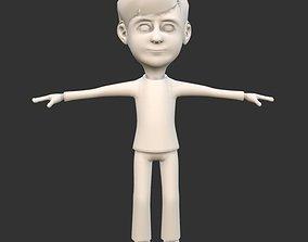 3D asset Boy Character Base Model