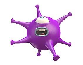 Cartoon Virus Monster 3D