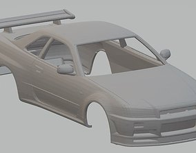 Nissan Skyline GTR Printable Body Car