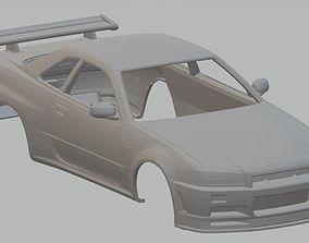 Nissan Skyline GTR Printable Body Car