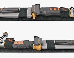 Survival Knife Gerber Set 3D model