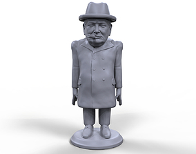 Winston Churchill Stylized high quality 3d printable
