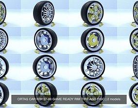 ORTAS CAR RIM 37-38 GAME READY RIM TIRE AND DISC 3D model