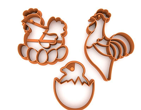 Cookie cutter pack - Easter 3D printable model