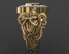 3D print model Krishanji Antique Gents Men Ring