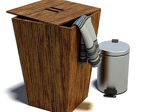 3D model Laundry Hamper And Trashcan