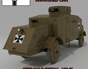 BUSSING A5P GERMAN ARMOURED CAR 3D model