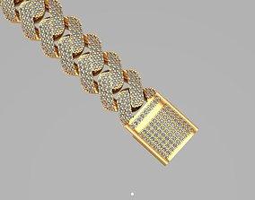 3D model cuban chain or necklace fashion SAK001